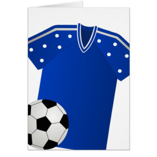 Blue Soccer Card