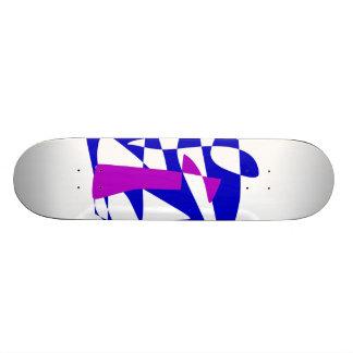 Blue Society Custom Skate Board