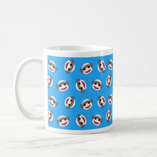 Blue Sock Monkey Boy Classic White Coffee Mug