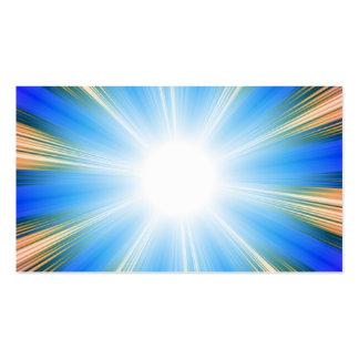 Blue Solar Flare Star Burst Background Business Cards