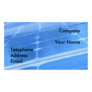 Blue Solar Panel Closeup Double-Sided Standard Business Cards (Pack Of 100)