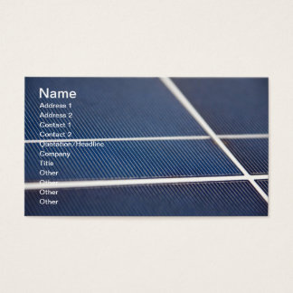 Blue Solar Panels Business Card