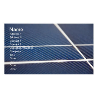 Blue Solar Panels l Natural Abstract Business Cards