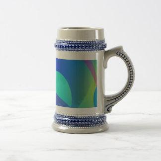 Blue Soothing Abstract Art Mug