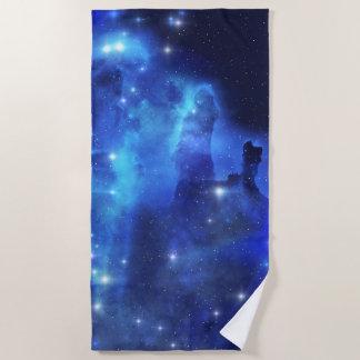 Blue Space Cloud Beach Towel