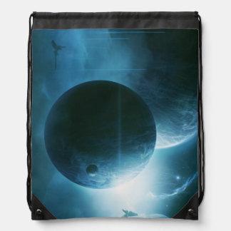 Blue Space Drawstring Bag
