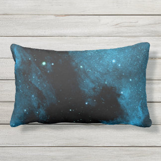 Blue Space Galaxy Throw Pillow