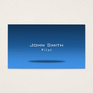 Blue Space Pilot/Aviator Business Card