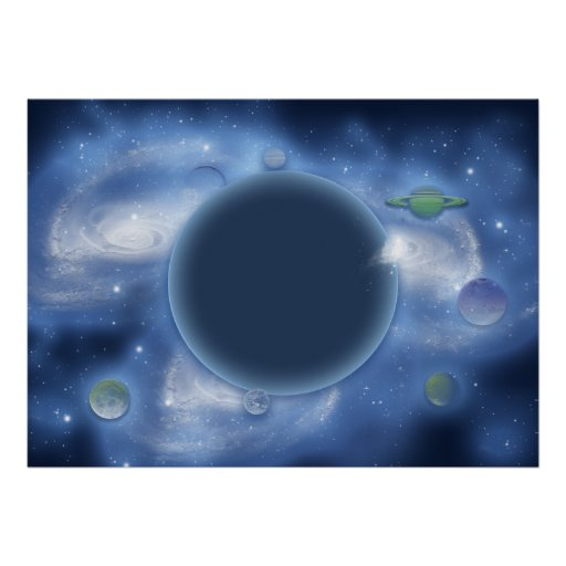 Blue space posters, prints, pictures, images