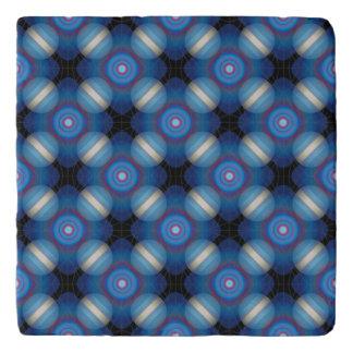 Blue Spacey Geometric Trivet