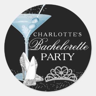 Blue Sparkle Cocktail Bachelorette Sticker