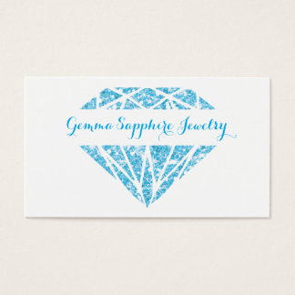 Blue Sparkle Gem Jeweler Business Card