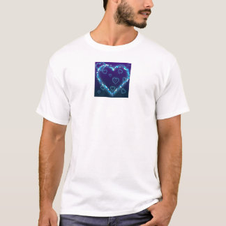 Blue Sparkle Heart T-Shirt