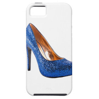Blue Sparkle High Heel Shoe Fashion Case For The iPhone 5