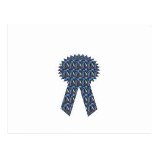 BLUE SPARKLE RIBBON success winner topper lowprice Postcard