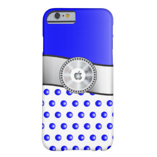 Blue sparkles barely there iPhone 6 case