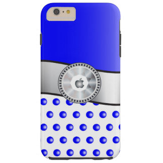 Blue sparkles tough iPhone 6 plus case