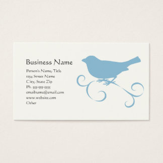 Blue Sparrow with Ribbon Business Card