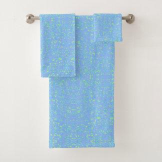 Blue Speckled 4Al Bath Towel Set