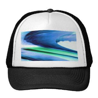 BLUE Spectrum Wave Sparkle Abstract TEMPLATE fun Trucker Hat