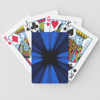 Blue speed lines bicycle playing cards