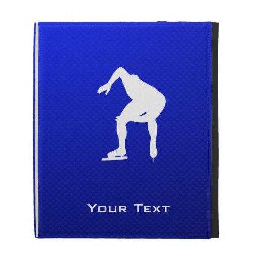 Blue Speed Skater iPad Cases