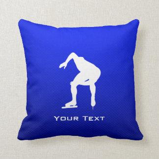 Blue Speed Skater Pillow