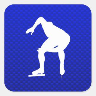 Blue Speed Skater Sticker