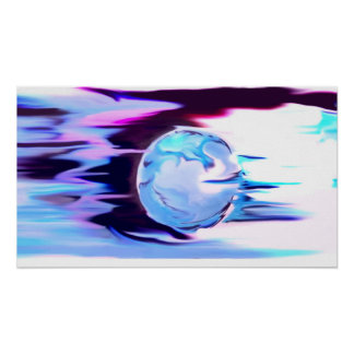 blue sphere poster