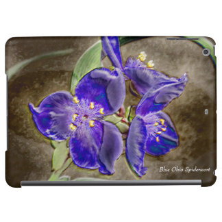 Blue Spiderwort Flowers Glossy iPad Air Case