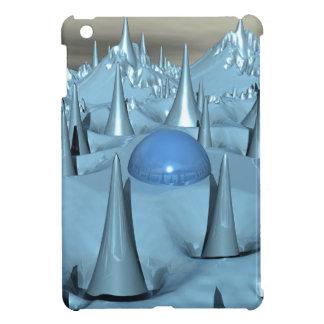 Blue Spikes Alien Terrain iPad Mini Cases