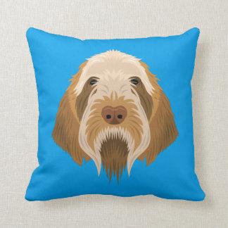 Blue Spinone Italiano Throw Pillow