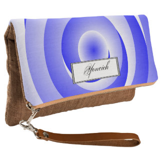 Blue Spiral Illusion by Kenneth Yoncich Clutch