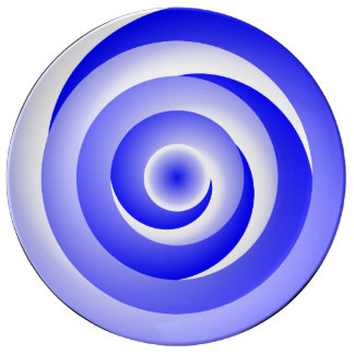Blue Spiral Illusion by Kenneth Yoncich Plate