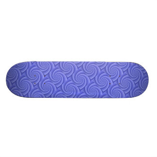 Blue Spiral in brushed metal texture Skateboard