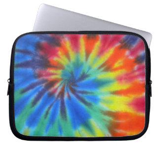 Blue Spiral Tie-Dye Laptop Sleeve