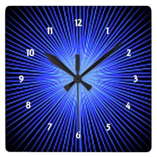 Blue Spirit Circle Square Wall Clock
