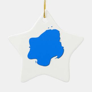 Blue Splash Ceramic Star Ornament