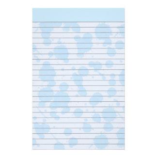Blue Splash Lined Stationery