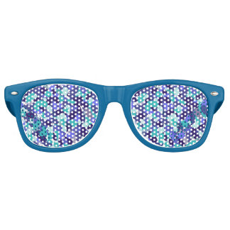 Blue Splashy Beachy Sunglasses