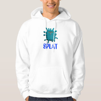 Blue Splat Calculator Hoodie