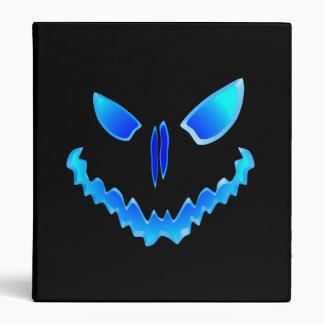 Blue Spooky Jack O Lantern Face Binders