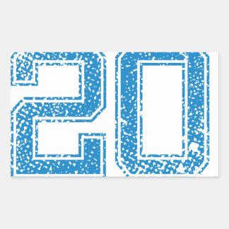 Blue Sports Jerzee Number 20 Sticker