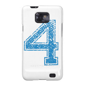 Blue Sports Jerzee Number 4 Samsung Galaxy S2 Cover