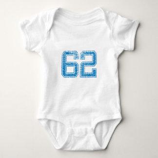 Blue Sports Jerzee Number 62 Baby Bodysuit
