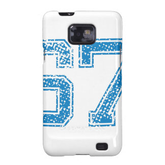 Blue Sports Jerzee Number 67 Galaxy SII Covers