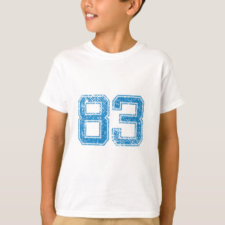 Blue Sports Jerzee Number 83.png T-Shirt