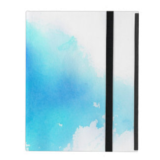 Blue spot, watercolor abstract hand painted cases for iPad