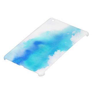 Blue spot, watercolor abstract hand painted iPad mini covers