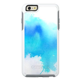 Blue spot, watercolor abstract hand painted OtterBox iPhone 6/6s plus case